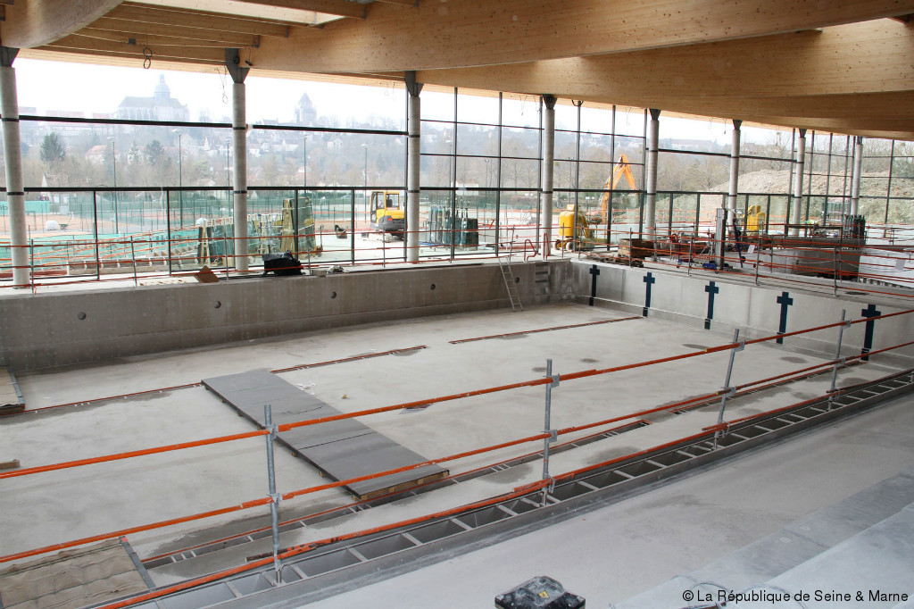 provins les travaux de la piscine avancent article la
